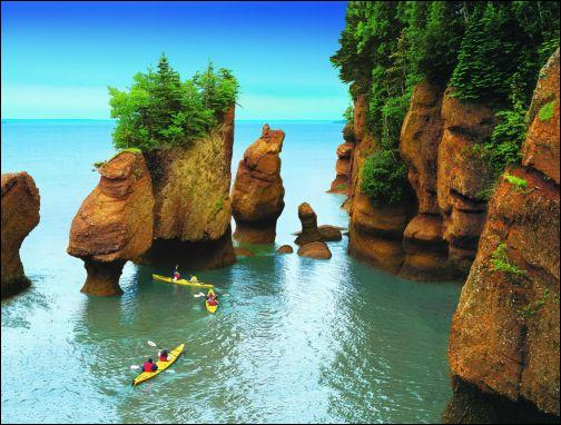 La baie de Fundy se trouve :