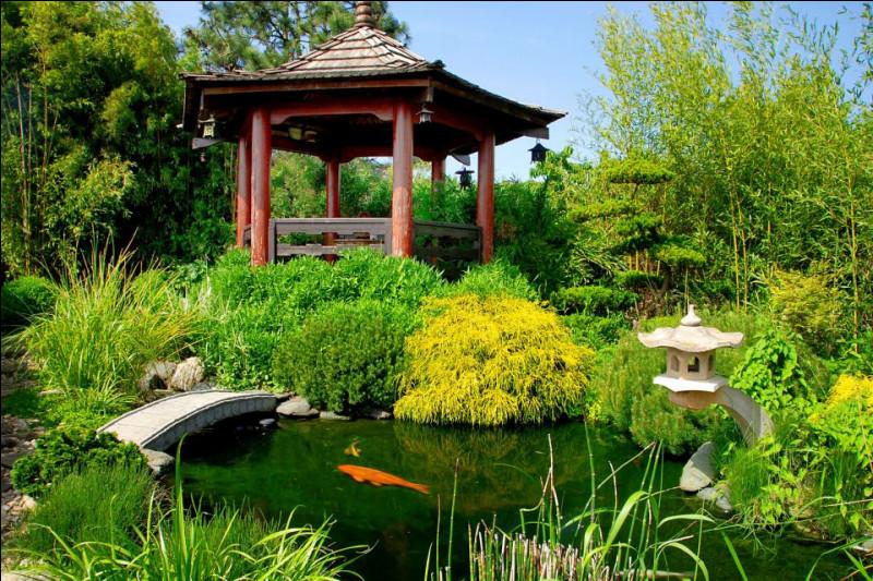De quelle île le jardin japonais est-il originaire ?