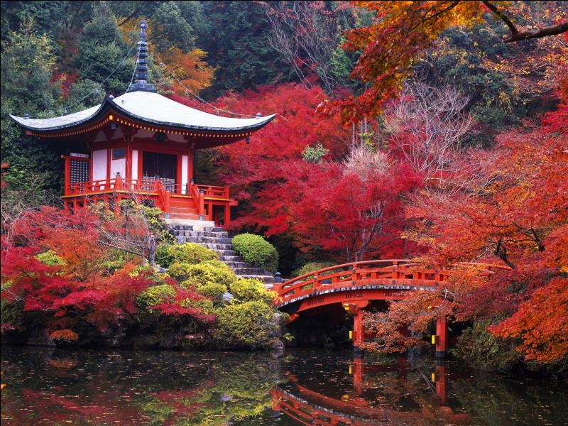 Le jardin japonais est le plus souvent délimité à l'aide de quel élément ?