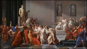 """À qui Jules César a-t-il adressé la phrase """"Tu quoque fili !"""" en 44 avant notre ère ?"""