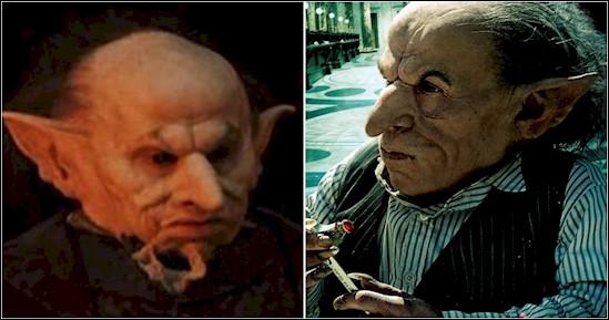 Un gobelin ? Mais celui qui le joue doit être horrible ! Qui est-ce ? Indice, il joue également le professeur Flitwick dans Harry Potter 1.