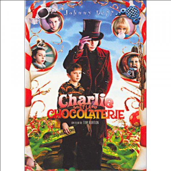 """Qui tombe dans la cascade de chocolat dans le film """"Charlie et la Chocolaterie"""", adapté du fantastique livre du fantastique Roal Dahl ?"""