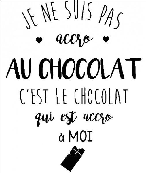 Le chocolat est produit à partir de/du :