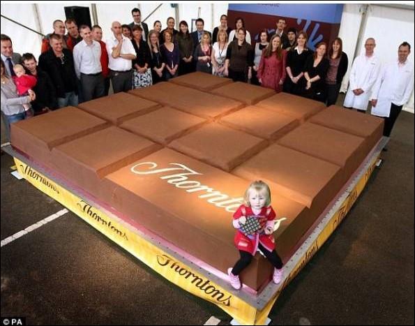 La plus grosse barre de chocolat pèse 5,5 tonnes.