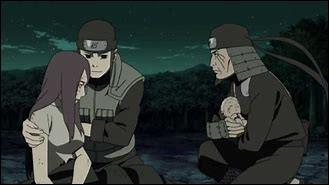 Que s'est-il passé quand Kushina a accouché de Naruto ?