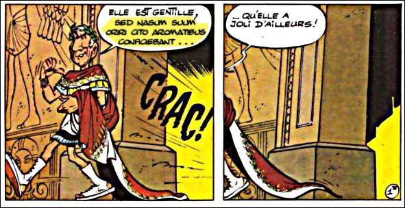 """C'est César - les Romains ignoraient-ils les méfaits de la moutarde ? - qui nous livre une autre version de l'expression vue en Q7. Qu'est-ce qui """"monte au nez"""" de Cléopâtre ?"""