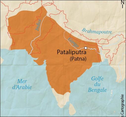 Quel empire indien a existé entre -321 et -185 agrandit sous les règne de Bindusâra et d'Aśoka ?