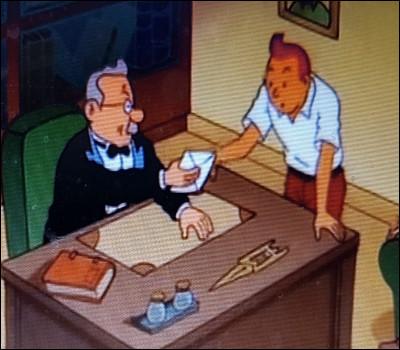 Une lettre a été remise à Tintin, mais que dit-elle ?
