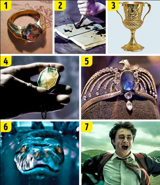 Quels Horcruxes Harry trouve-t-il à Poudlard ?