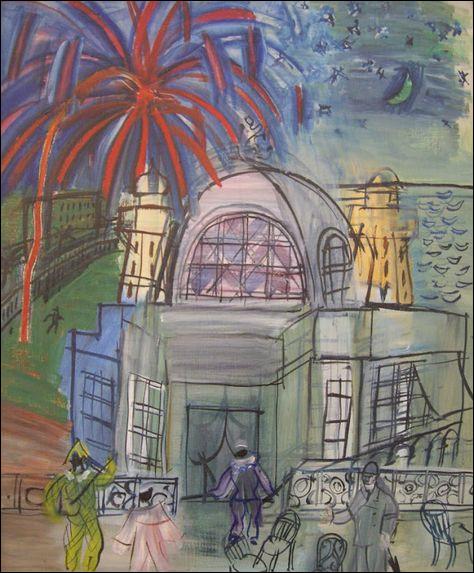 "Qui a peint ""Feu d'artifice sur le casino de Nice"" ?"