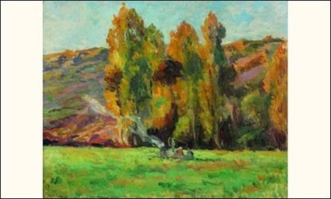 """Qui a peint """"Feu de bois à Bessy-sur-Cure, coteaux"""" ?"""