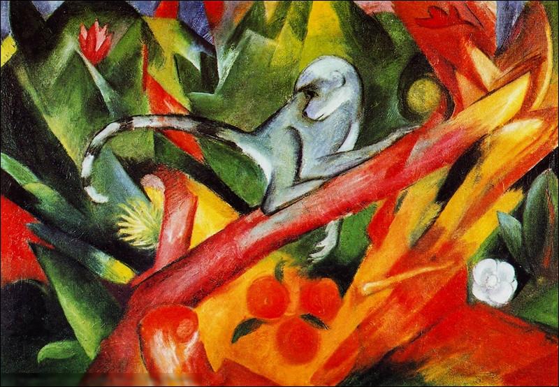 """Quel expressionniste allemand a réalisé le tableau """"Le Singe"""" ?"""