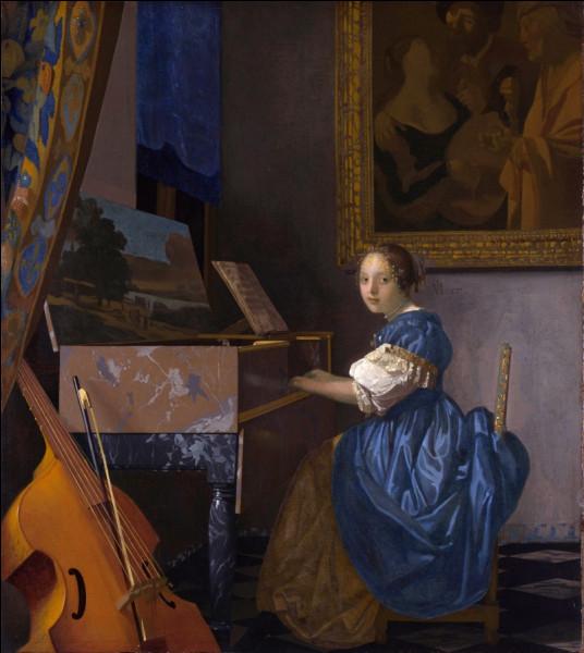 """Quel peintre hollandais du XVIIe a réalisé le tableau """"Jeune femme au virginal"""" ?"""