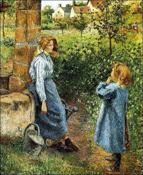 """Quel peintre est l'auteur du tableau """"Femme et enfant au puits"""" ?"""