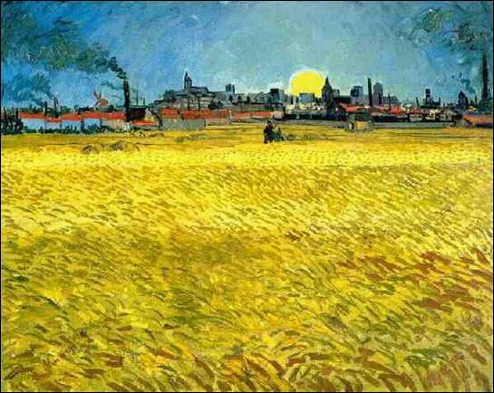 """Qui a peint """"Champs au coucher du soleil"""" ?"""