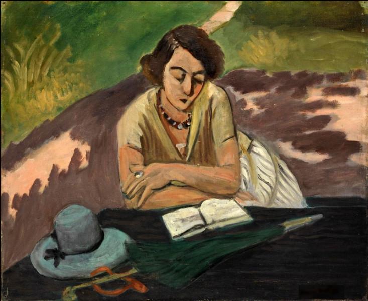 """Qui a peint le tableau """"Femme lisant avec parasol"""" ?"""