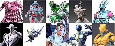 Parmi ces Stands, lesquels n'apparaissent pas dans Stardust Crusaders ? Deux réponses sont attendues (La photo n'est là que pour illustrer, ne la prenez pas en compte pour répondre).
