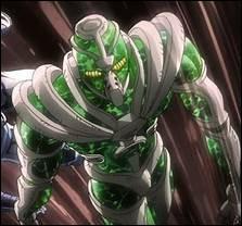Hierophant Green a entre autres le pouvoir d'envoyer des pierres précieuses. Lesquelles ?