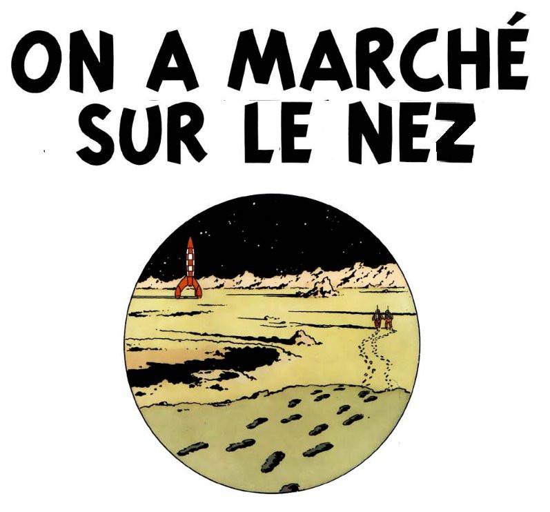 Tintin : On a marché sur le nez