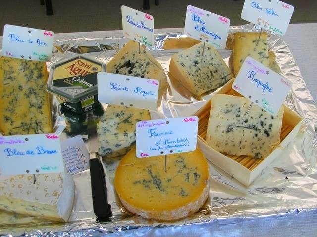Les fromages persillés