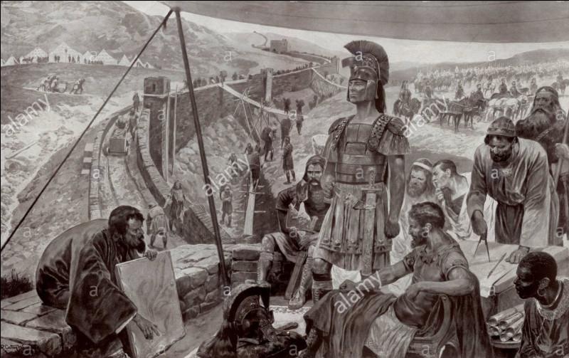 Quel empereur en 120 ordonna l'édification d'un mur de 117 km en Angleterre actuelle, afin de protéger la frontière de l'Empire romain ?