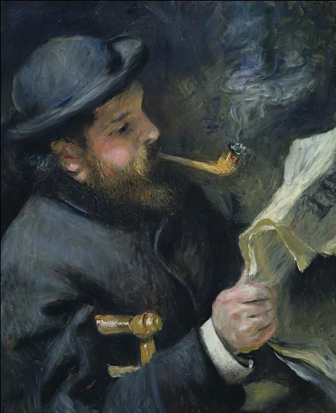 Qui a représenté Claude Monet lisant son journal ?