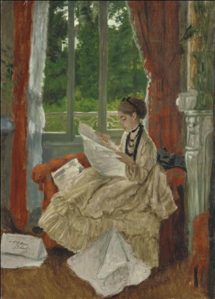 """Qui a peint """"Jeune Femme lisant le journal"""" ?"""