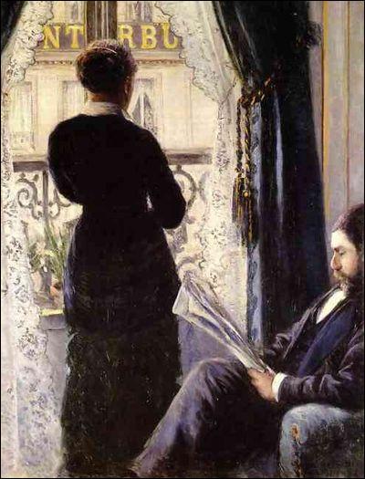 Sur cette toile, qui a représenté cet homme et son journal ?