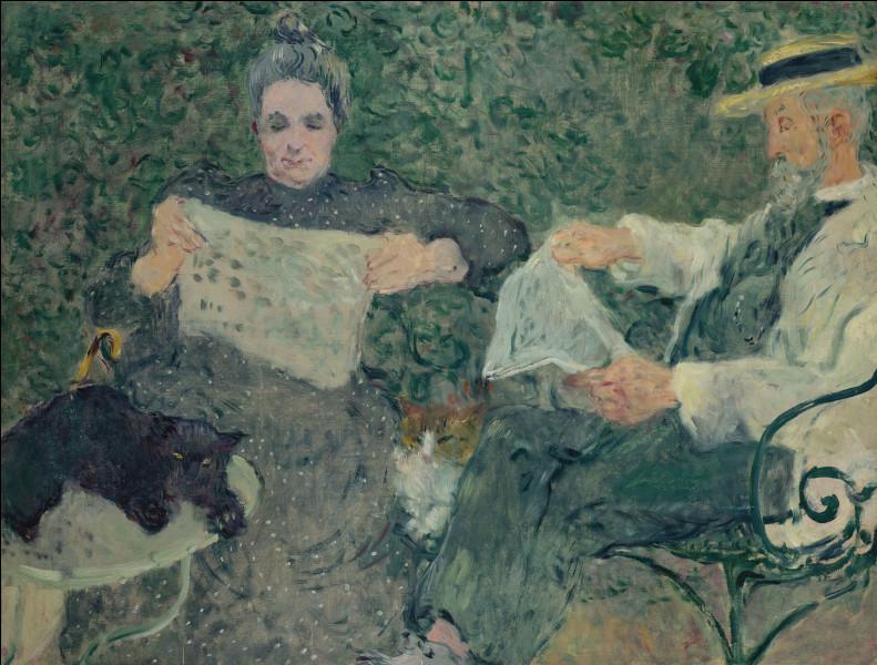 """À qui doit-on la toile """"La Lecture du journal, Marguerite et Victor"""" ?"""