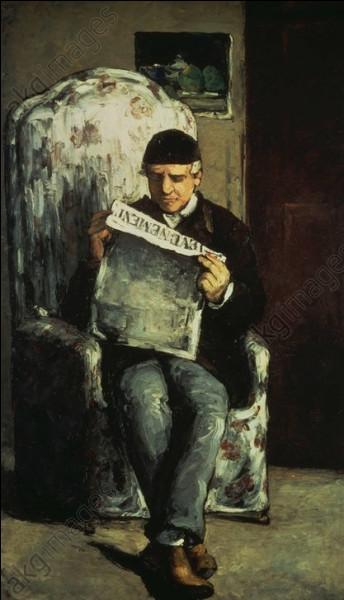 Qui a fait le portrait de son père Auguste lisant son journal ?