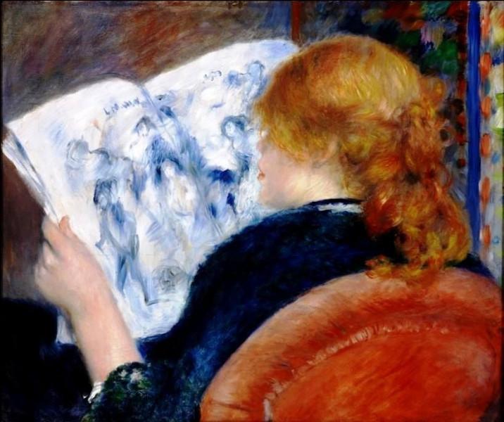 """Qui a représenté cette """"Femme lisant le journal"""" ?"""