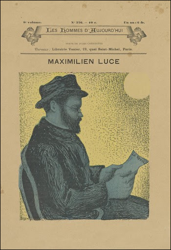 Qui a dessiné le portrait de Maximilien Luce lisant son journal ?