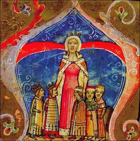 """Enfin, le premier nom de parfum naît en 1370, """"inspiré"""" par la reine Élisabeth de [quel lieu ?] : à [ quel âge ?], elle séduit le roi de [quel pays ?], grâce à son parfum, paraît-il !"""