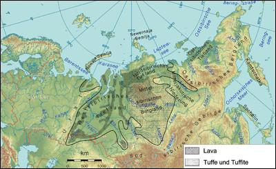 Combien, en pourcentage, d'espèces vivantes ont péri lors des trapps de Sibérie, le plus grand événement volcanique connu ?
