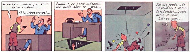 Tintin a du nez, mais il est trop tard ! Quel sorte de gaz les bandits de Chicago lui ont-ils administré, avant de le jeter dans le lac Michigan ?