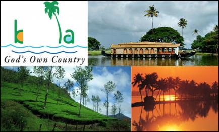 """Quel est cet État indien, situé au sud, recouvert de forêts et traversé par un réseau de lagunes et se canaux, surnommé """"le pays de Dieu """" ?"""