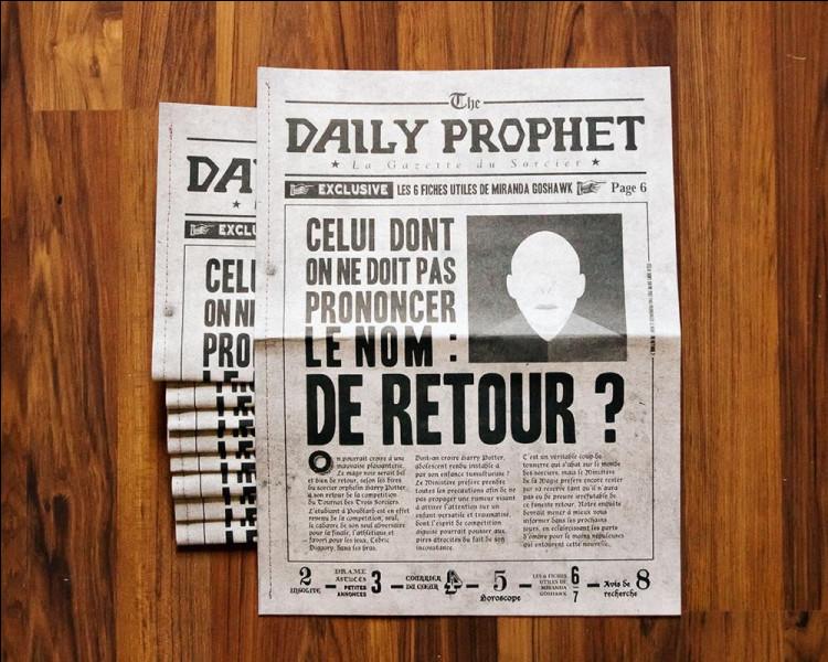 Comment s'appelle le journal qui accuse très souvent Harry Potter ?