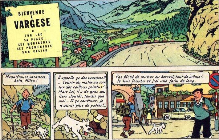 """La station de Vargèse n'apparaît pas pour la 1ère fois dans """"Tintin au Tibet"""" (prépublication de 1958) mais en 1939 ! Dans quel revue et sous quel crayon ?"""