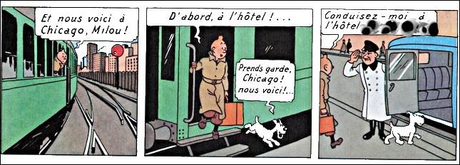Arrivant à Chicago, Tintin tente de faire route vers son hôtel, lequel a pour nom ...