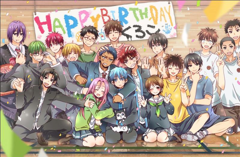 À l'anniversaire de Kuroko qu'y avait-il d'organisé en tout premier ?