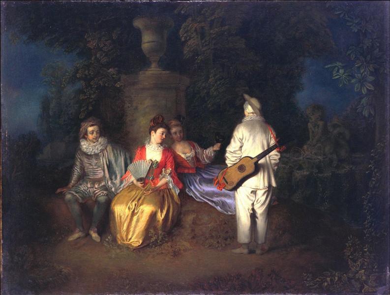 """Complétez le titre de ce tableau d'Antoine Watteau peint en 1713 : """"La … carrée""""."""