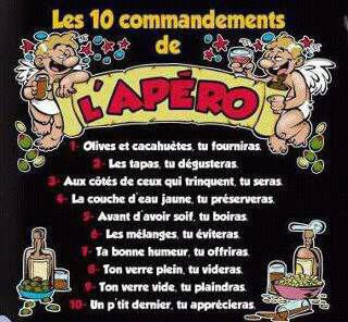 Les 10 commandements de l'apéro