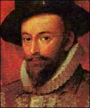 """Ce navigateur et explorateur anglais, courtisan et aventurier, qui a contribué à la bataille contre """"l'Invincible Armada"""" ainsi qu'à la colonisation anglaise de la Virginie, c'est ... Raleigh."""