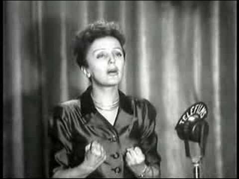"Edith Piaf chante ""l'Hymne à l'amour"" :"