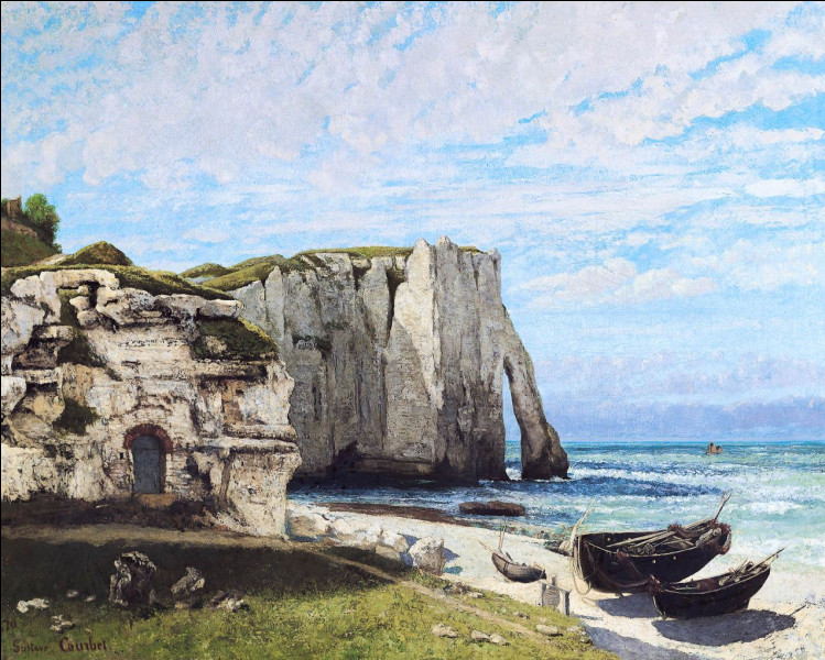Ou plutôt vers les célèbres falaises d'........... en Normandie !