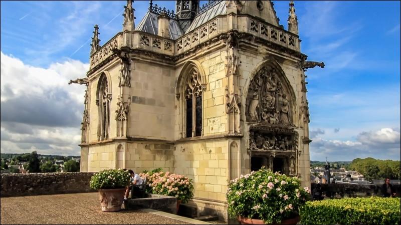 La dernière demeure de Léonard de Vinci, la chapelle Saint-Hubert, est dans l'enceinte de ce château surplombant la Loire à quelques lieues de Tours. Quel est-il ?