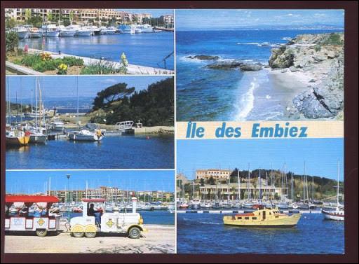 Située à 1 km de Six-Fours-les-Plages près de Toulon, dans quel département se trouve l'île des Embiez ?