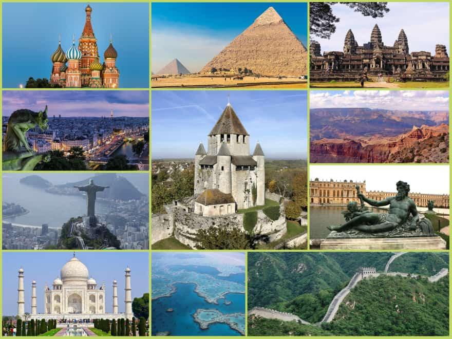 Monuments et paysages célèbres en France (1)