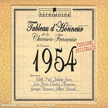 Chansons francophones de l'année 1954
