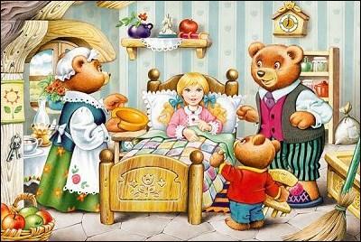 Comment s'appelle la petite fille qui mangea le repas des ours et dormit dans leurs lits ?